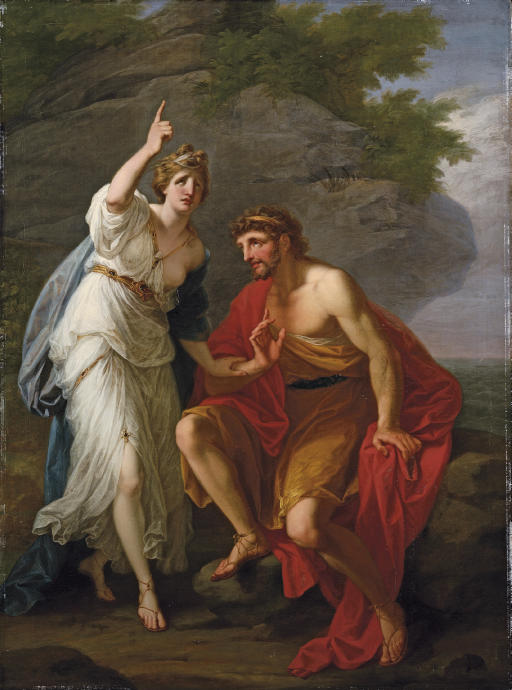 ngelica kauffman 1774 Calypso calling heaven and earth to witness her sincere affection to Ulysses167 x 122 cm Coll priv