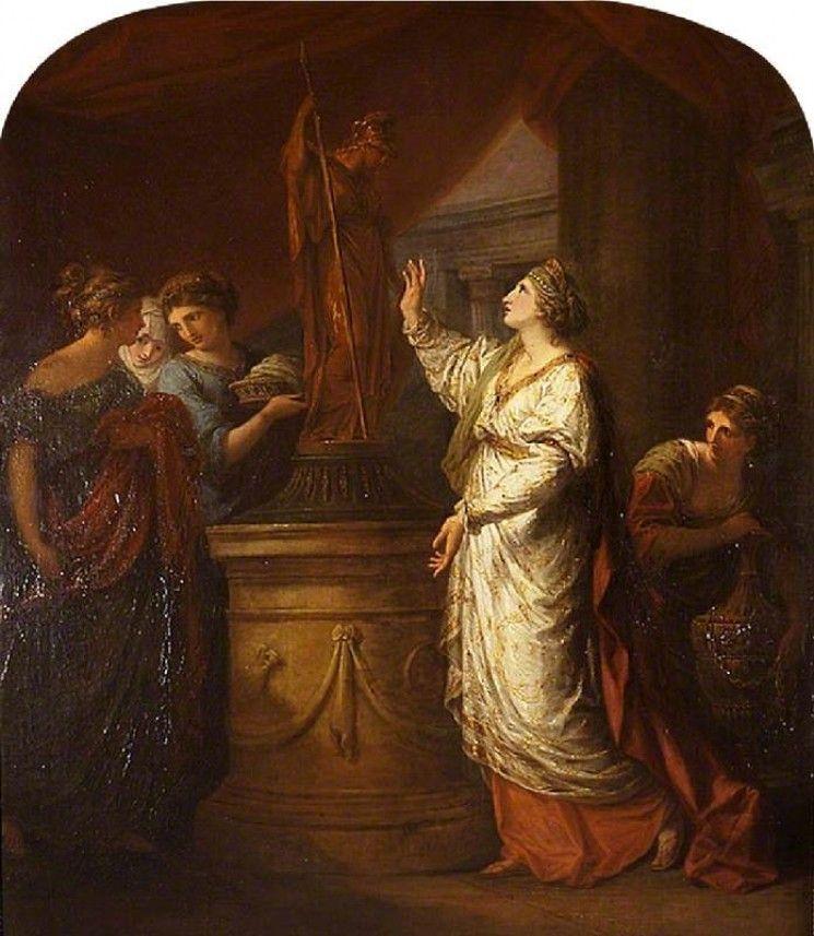 angelica kauffman 1774 Penelope implorant l'aide de Minerve pour le retour de Telemaque National Trust, Stourhead 150 x 126
