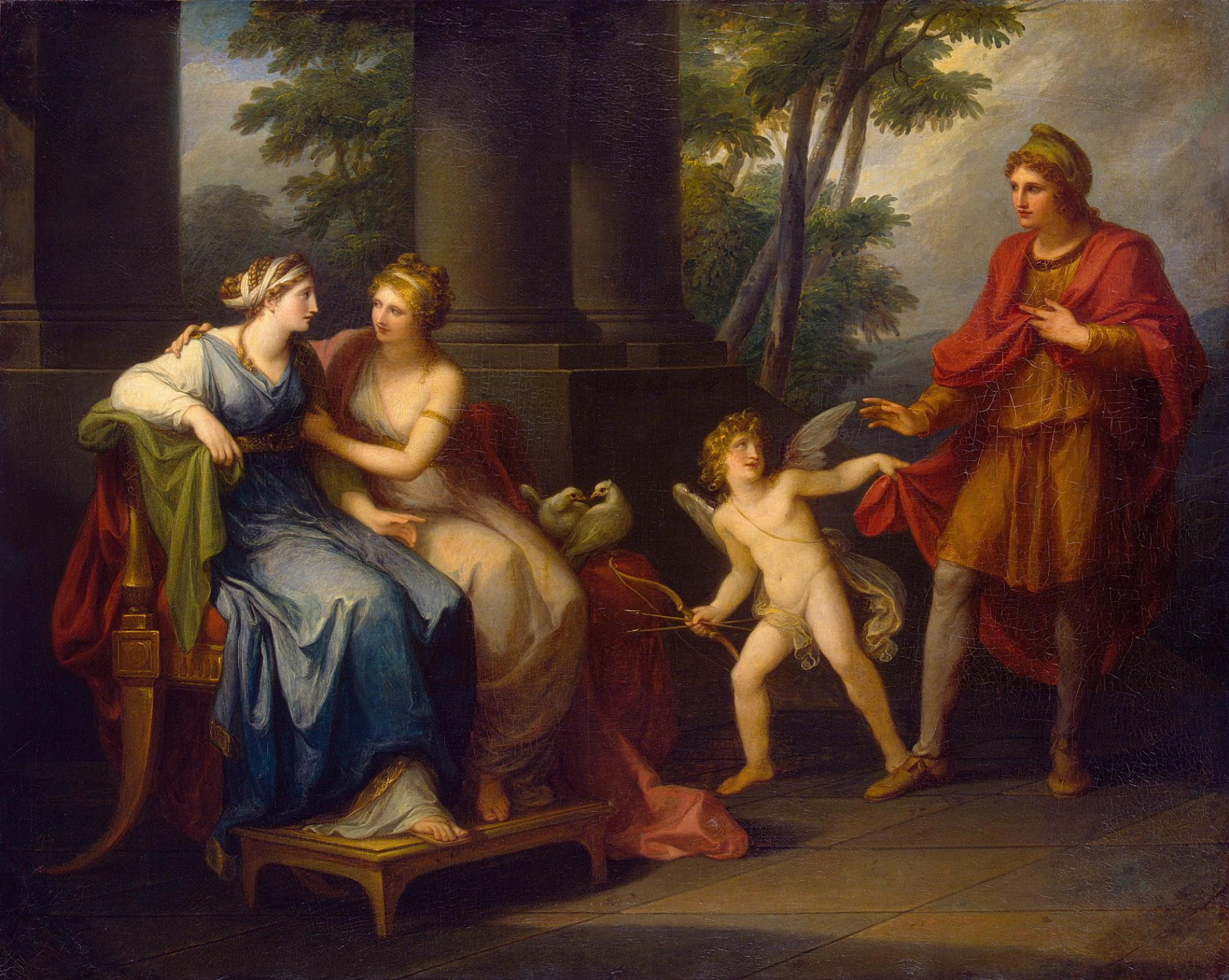 angelica kauffman 1790 Venus persuading Helen to love Paris Ermitage, Saint Petersbourg