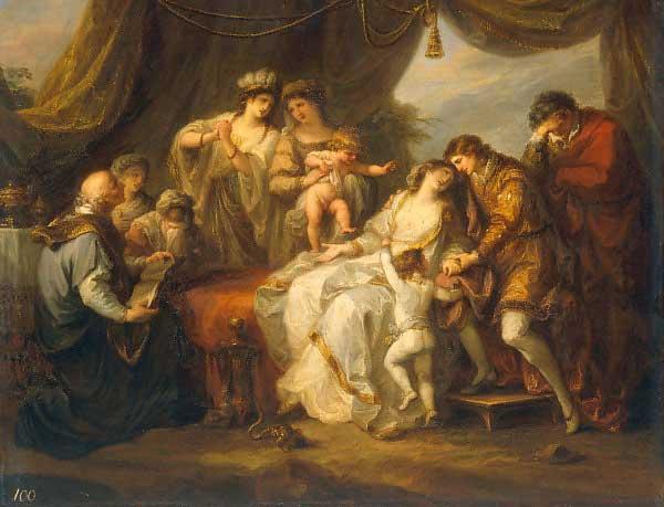 angelika kauffman 1782 Leonore empoisonnee Museum Pavlovsk Palace, St. Petersburg