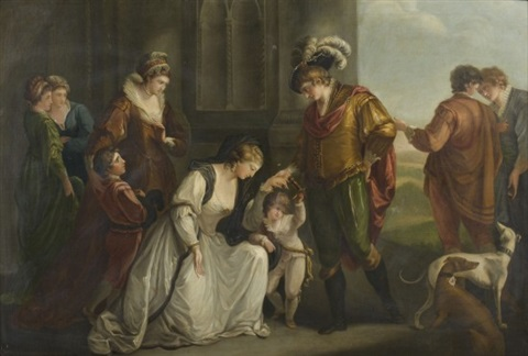 angelika kauffmann 1776 RA (copie) Lady Elisabeth Grey implorant Edouard IV pour la restitution des biens de sone poux decede