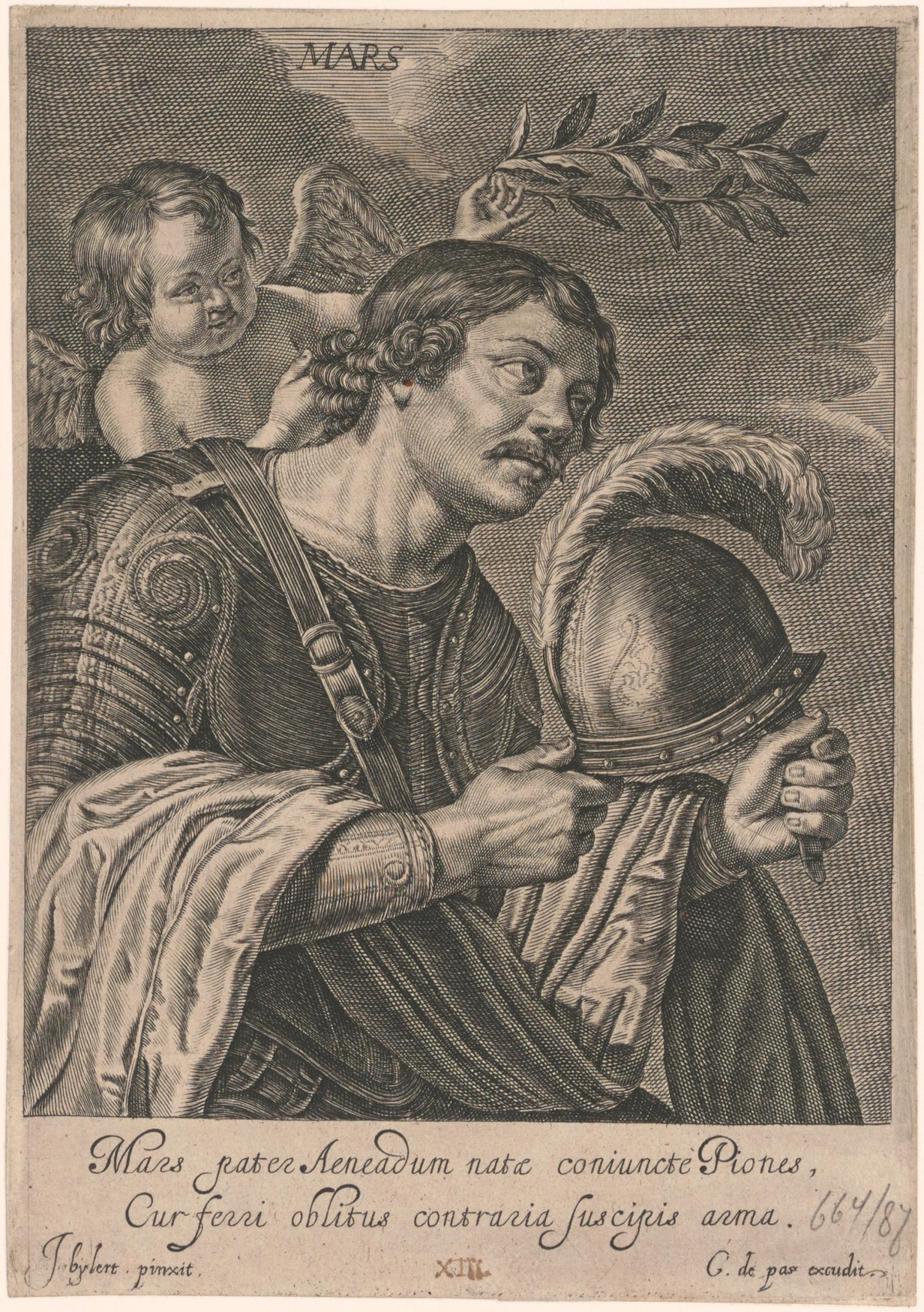 gravure de Crispijn van de Passe de Jonge Mars (c) Centraal Museum, Utrecht