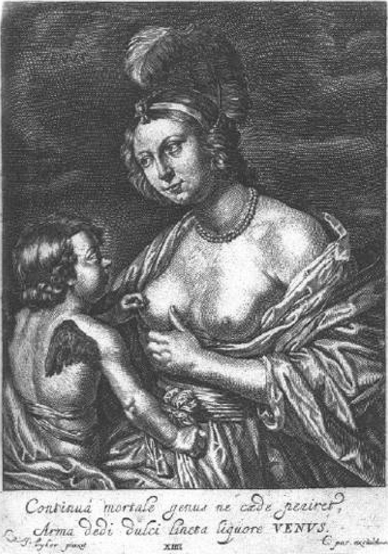 gravure de Crispijn van de Passe de Jonge Venus