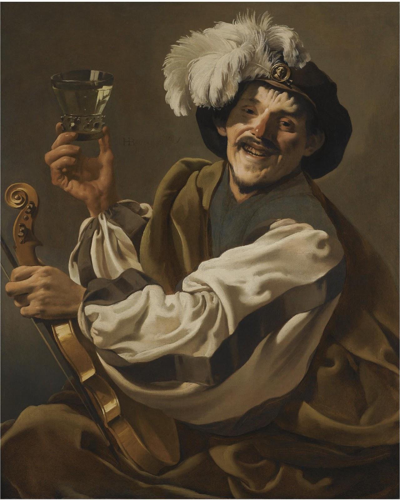 terbrugghen 1626 ca Violoniste trinquant chateau musee de Boulogne sur mer