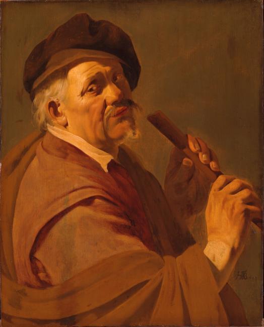 terbrugghen (suiveur) 1633 Flutiste1 Staatliches Museum Schwerin