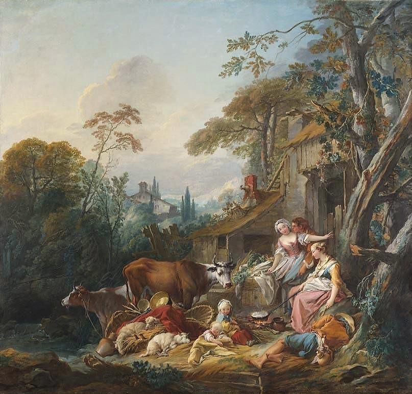 Boucher 1735 ca La ferme ou la Fermiere courtisee Alte Pinakothek Munich