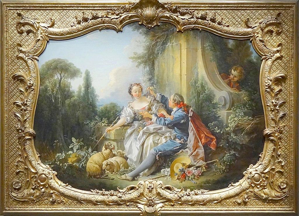 Boucher 1736-39_Le_pasteur_galant,_Paris,_Archives_nationales,_hôtel_de_Soubise