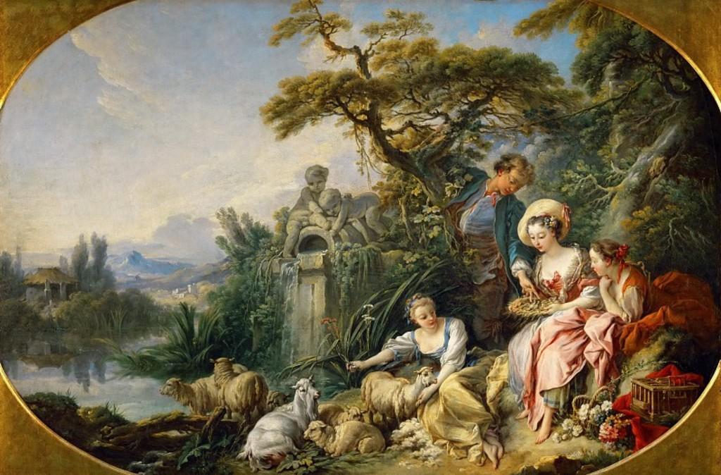 Boucher 1737 Le_Nid,_dit_aussi_le_Present_du_berger_Louvre