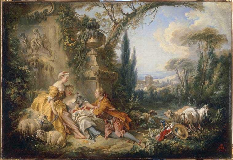 Boucher 1737 charmes de la vie champetre Louvre