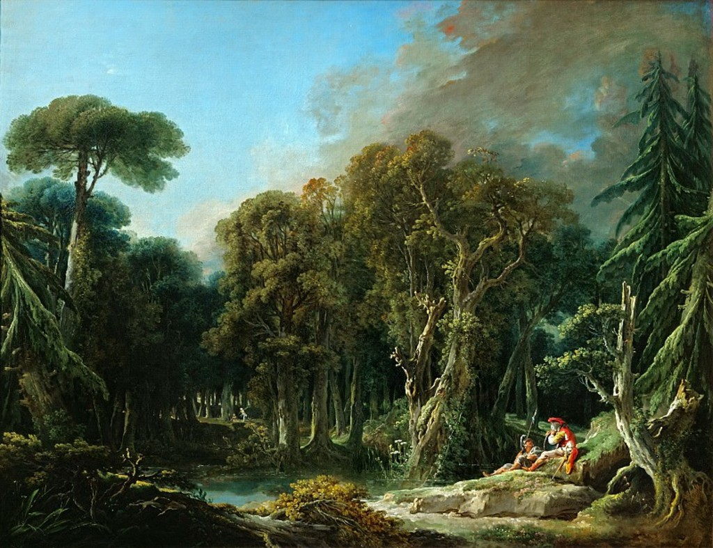 Boucher 1740 _The_Forest_-_WGA2888 Louvre