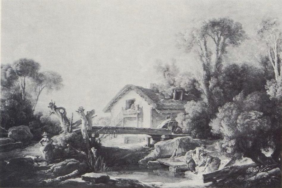 Boucher 1754 Paysage au moulin Cincinnati Art Museum
