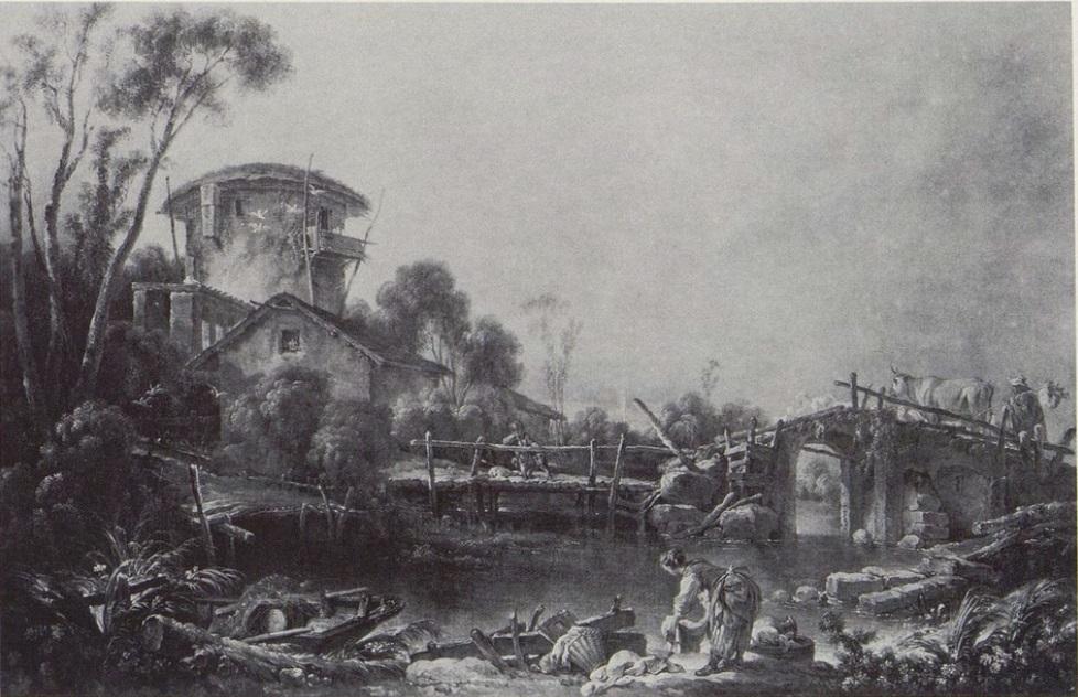 Boucher 1754 Paysage au pont de pierre Cincinnati Art Museum
