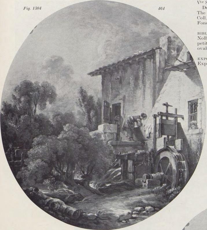 Boucher 1756 Blanchisseuse pres d'un moulin coll priv