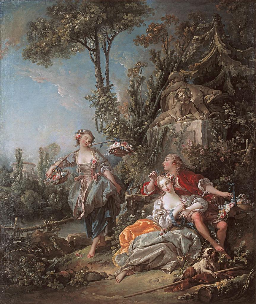 Boucher 1758a Amoureux dans un parc Timken Museum of Art