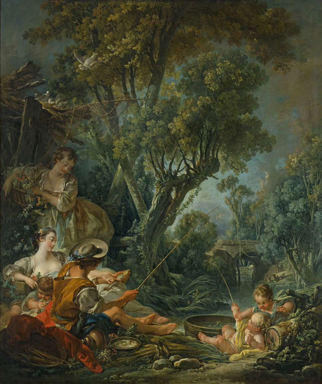 Boucher 1758a Le pecheur kunsthalle hamburg