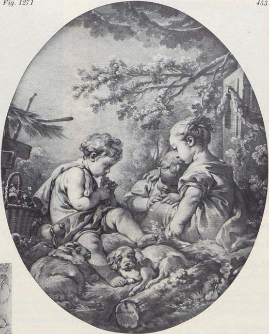 Boucher 1759 Le gouter coll priv.