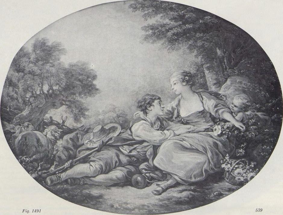 Boucher 1760a Pastorale au berger suppliant coll priv.