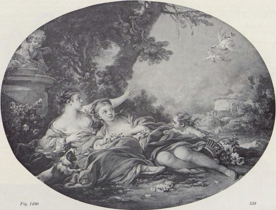 Boucher 1760a Pastorale aux jeunes femmes coll priv