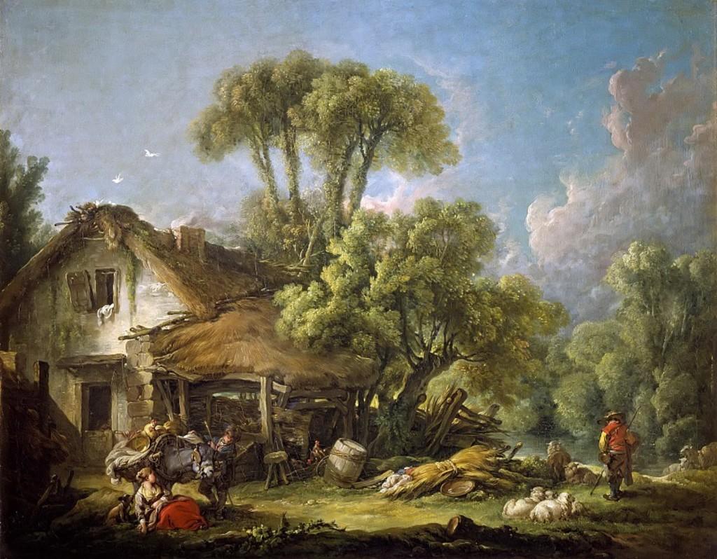 Boucher 1764b Le matin pres de Beauvais Barberini_Gallery