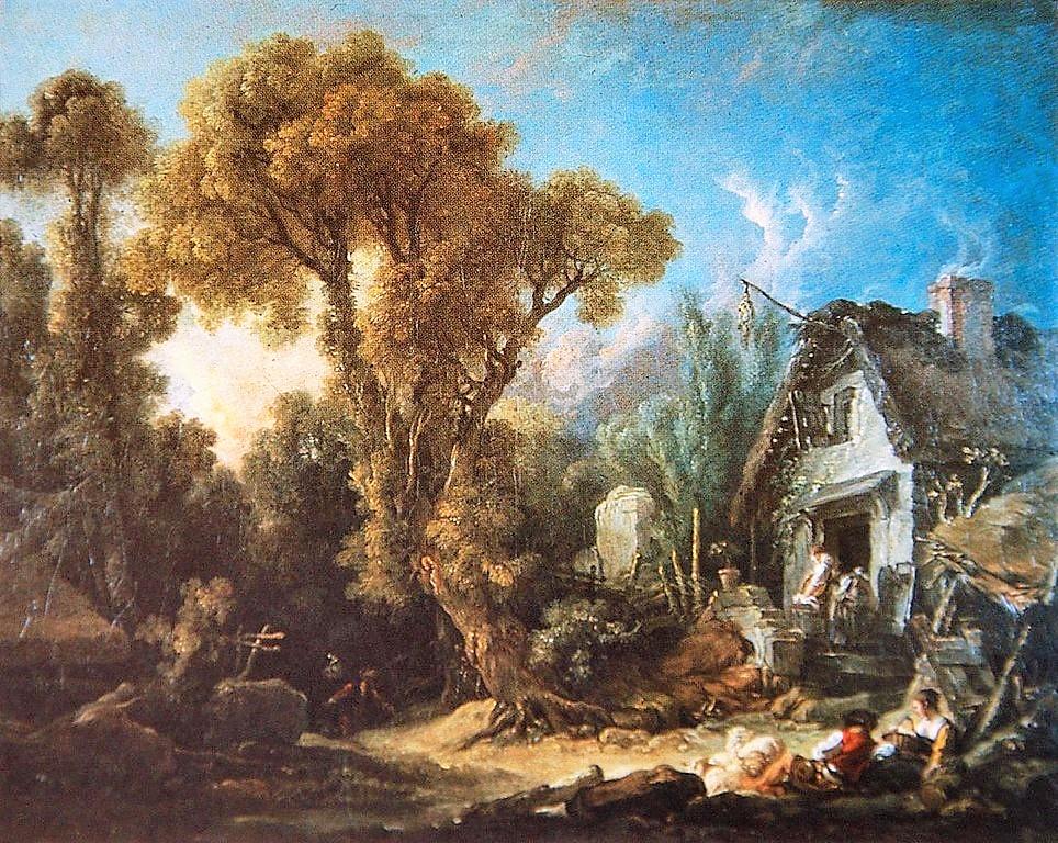 Boucher 1764b Le soir pres de Beauvais coll priv