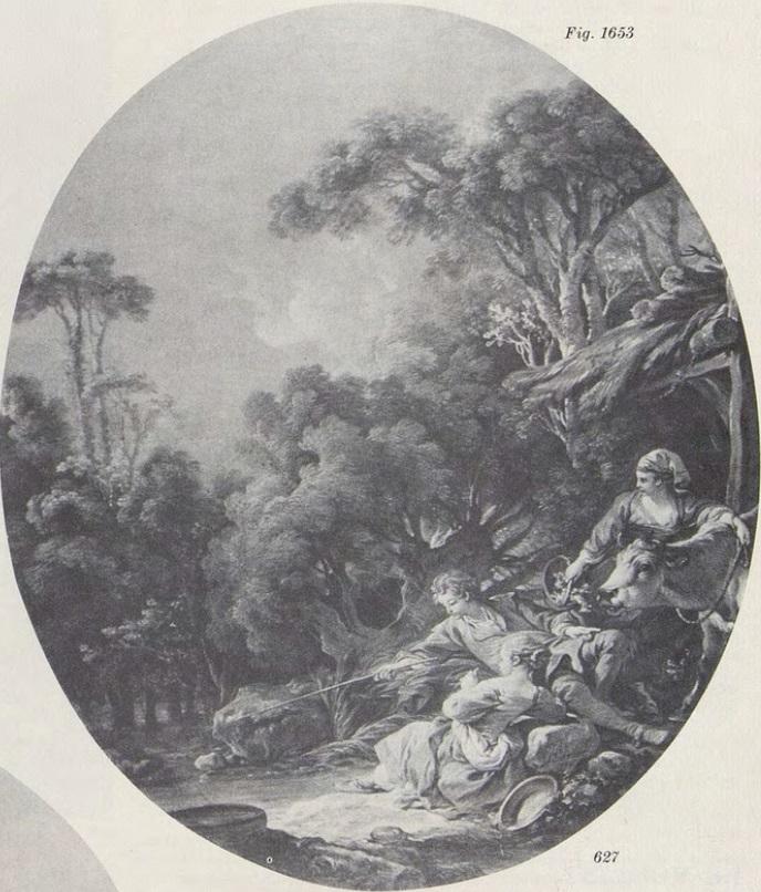 Boucher 1766 Les villageois à la pêche coll part