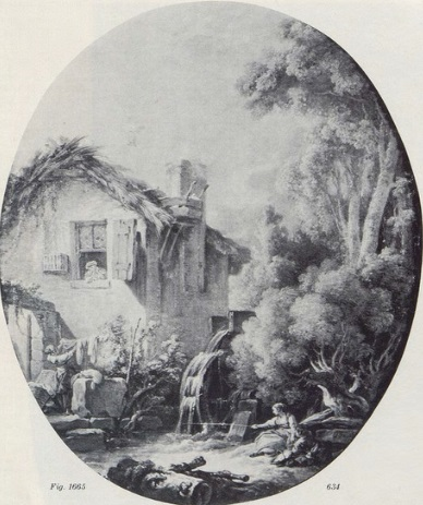 Boucher 1766c la maison du meunier coll part