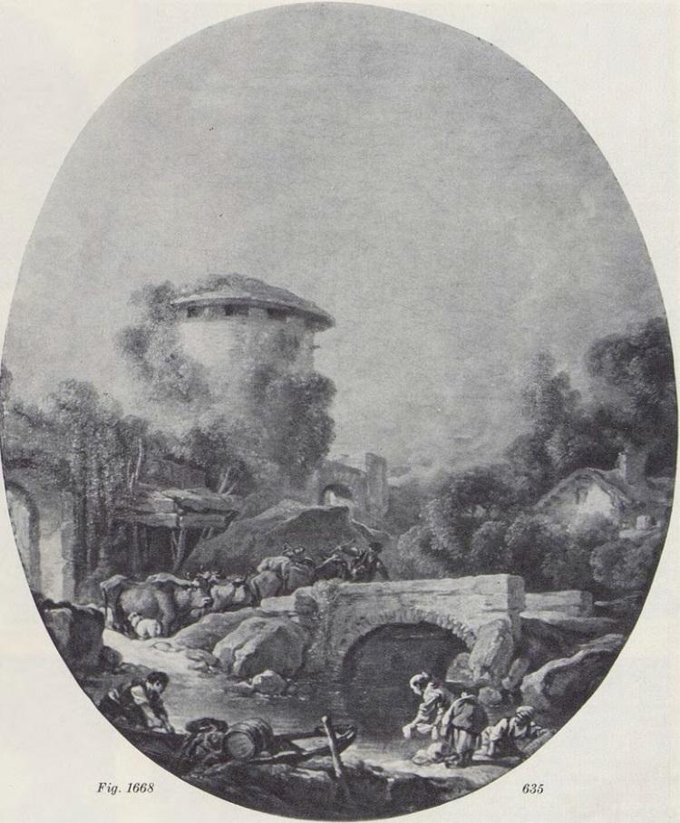 Boucher 1766c le bateau du pecheur coll part