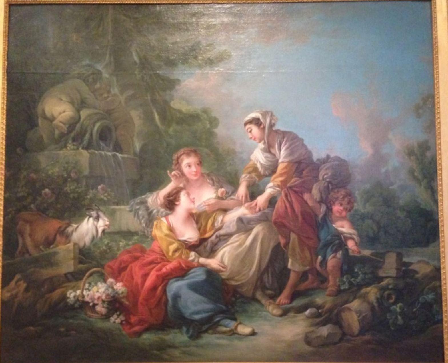 Boucher 1767 La diseuse de bonne aventure mobilier national