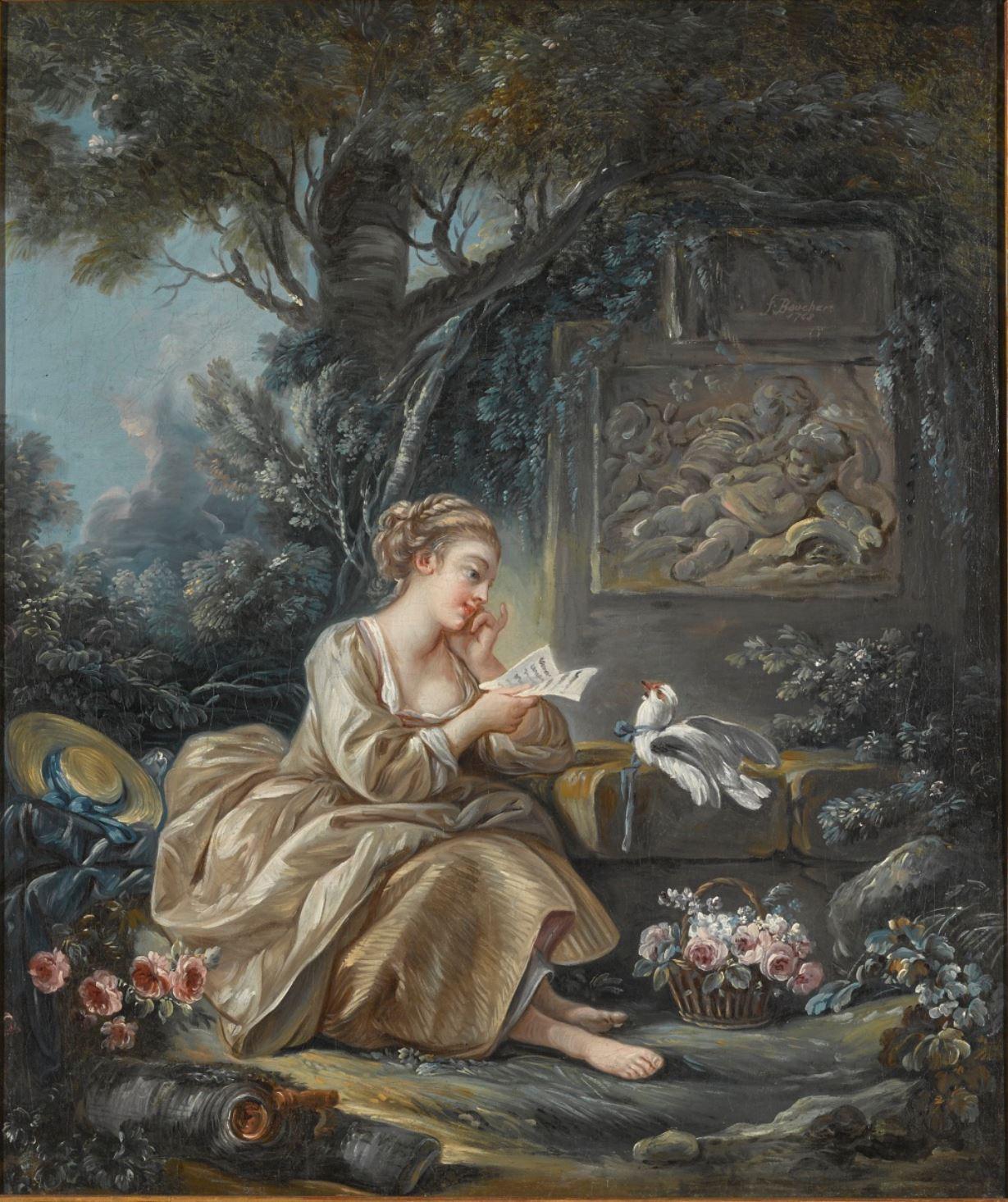 Boucher 1767c Le messager discret coll part