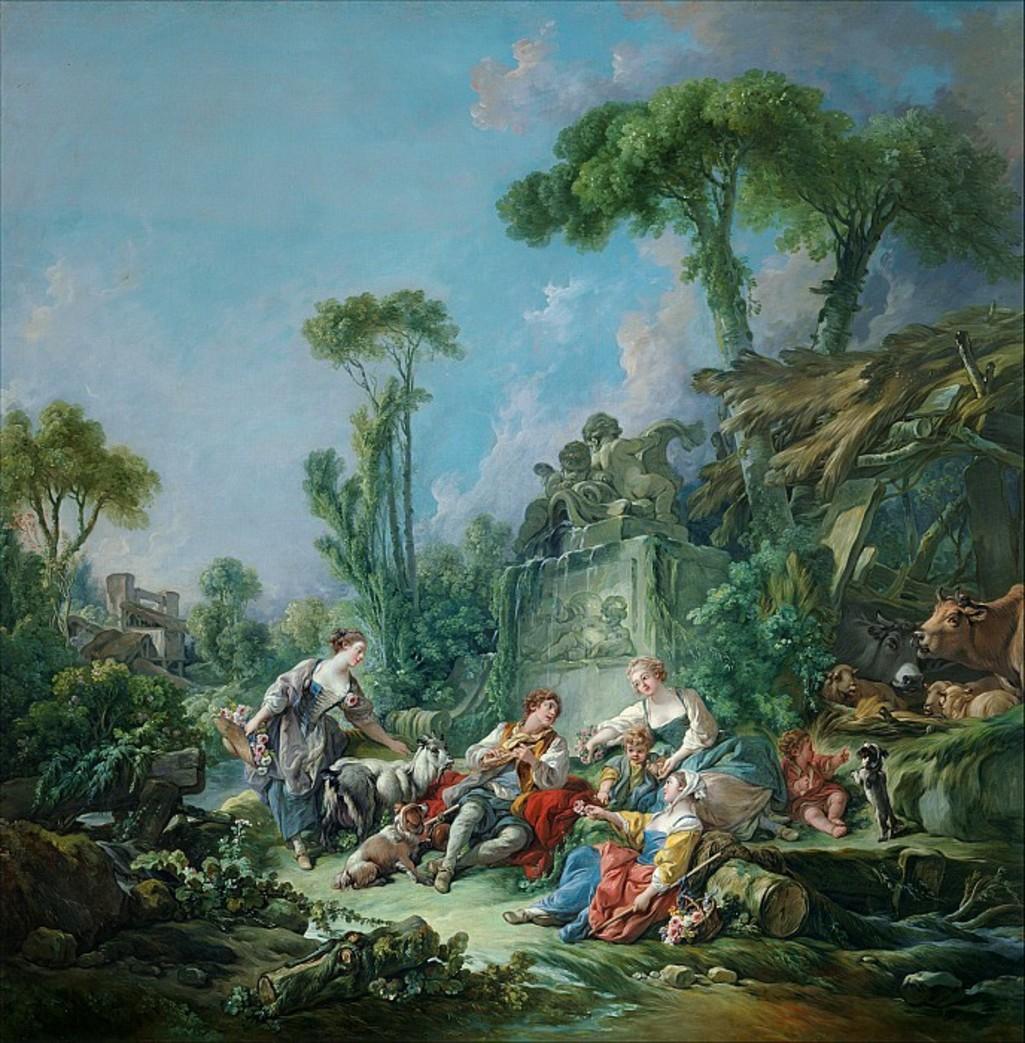 Boucher 1768a La halte ou la fete du berger MET