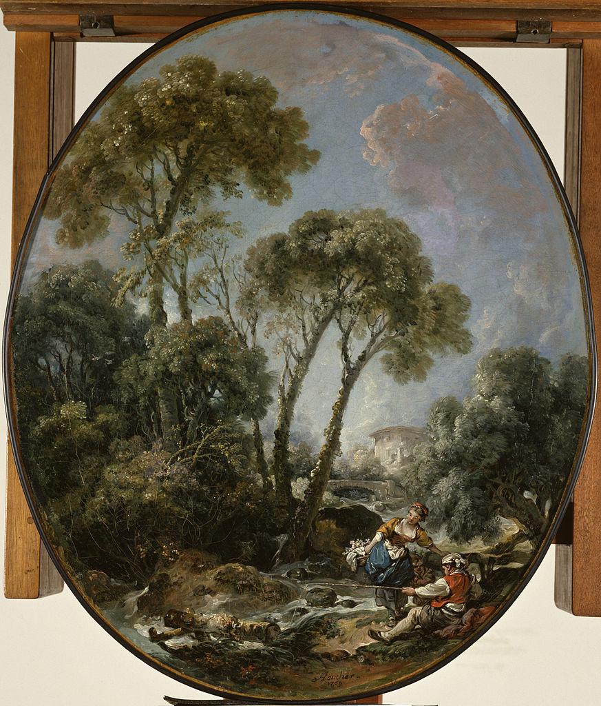Boucher 1769b Pecheur accompagne d'une femme Walters Art Museum Baltimore