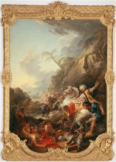 Boucher A2 1736 La_chasse_au Tigre Musee de Picardie Amiens