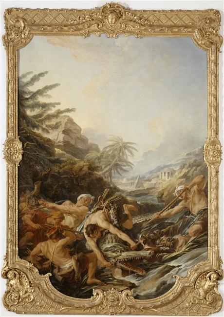 Boucher A2 1739 La_chasse_au_crocodile Musee de Picardie Amiens