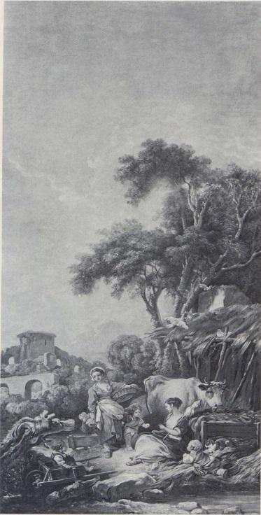 Boucher A3 1769 Le bonheur au village coll part