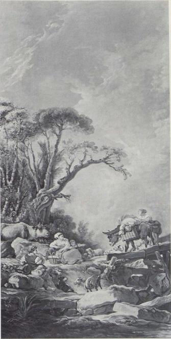 Boucher A3 1769 Le retour du marche coll part