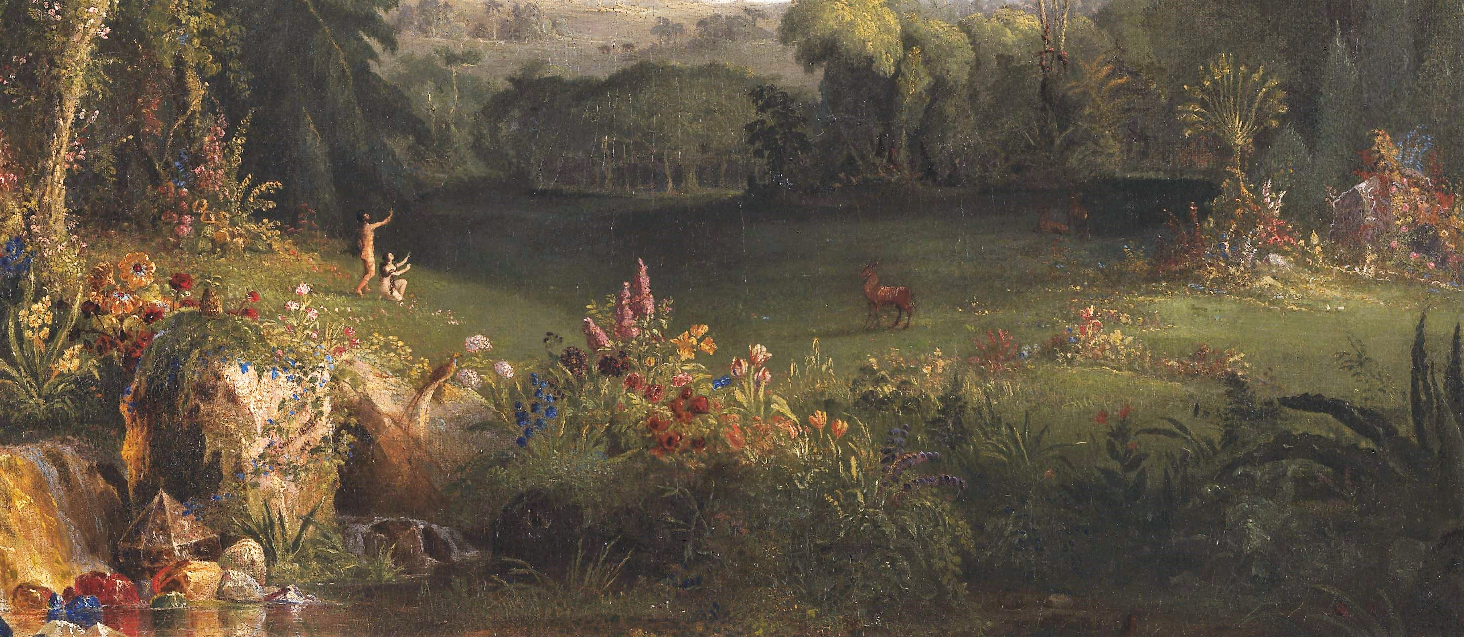 Cole 1828 The_Garden_of_Eden, Amon Carter Museum Fort Worth Texas 133,9 x 97,7 cm detail