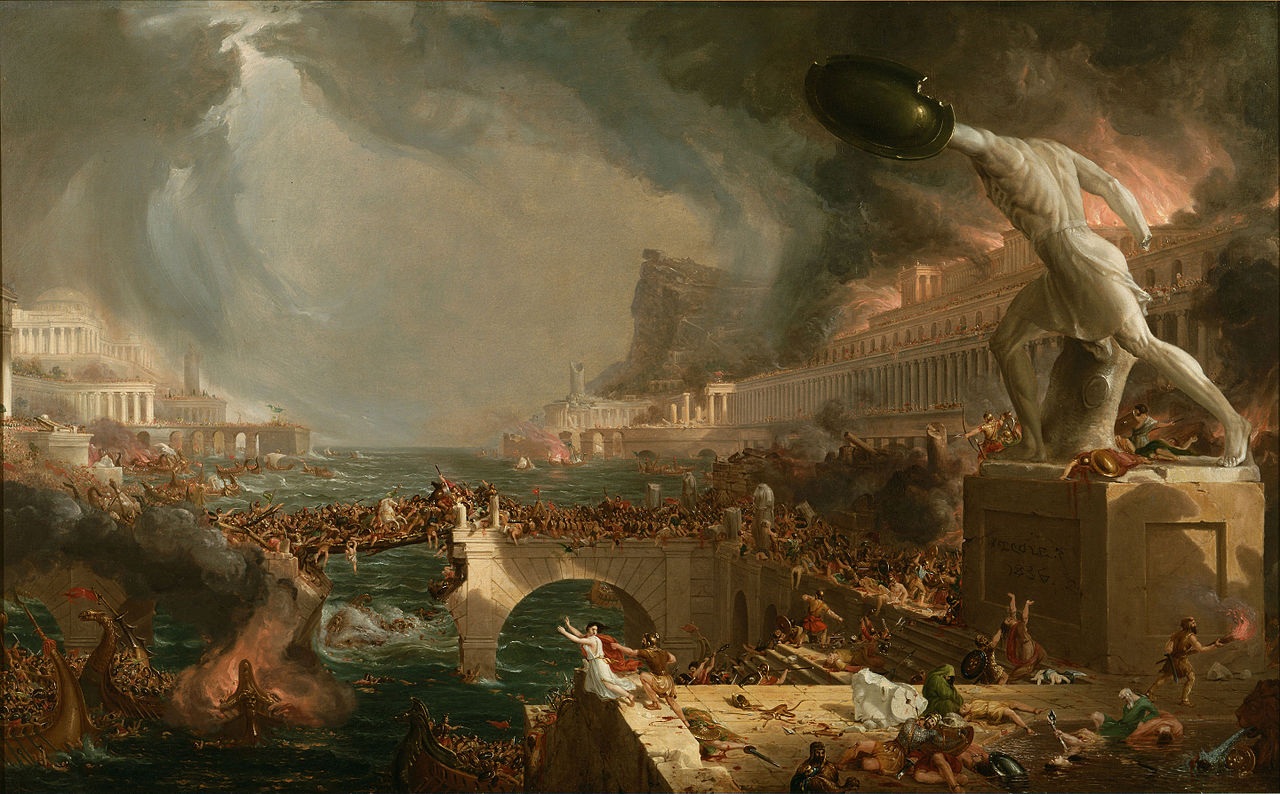 Cole 1836 The_Course_of_Empire 4 Destruction New-York Historical Society 161 x 100 cm