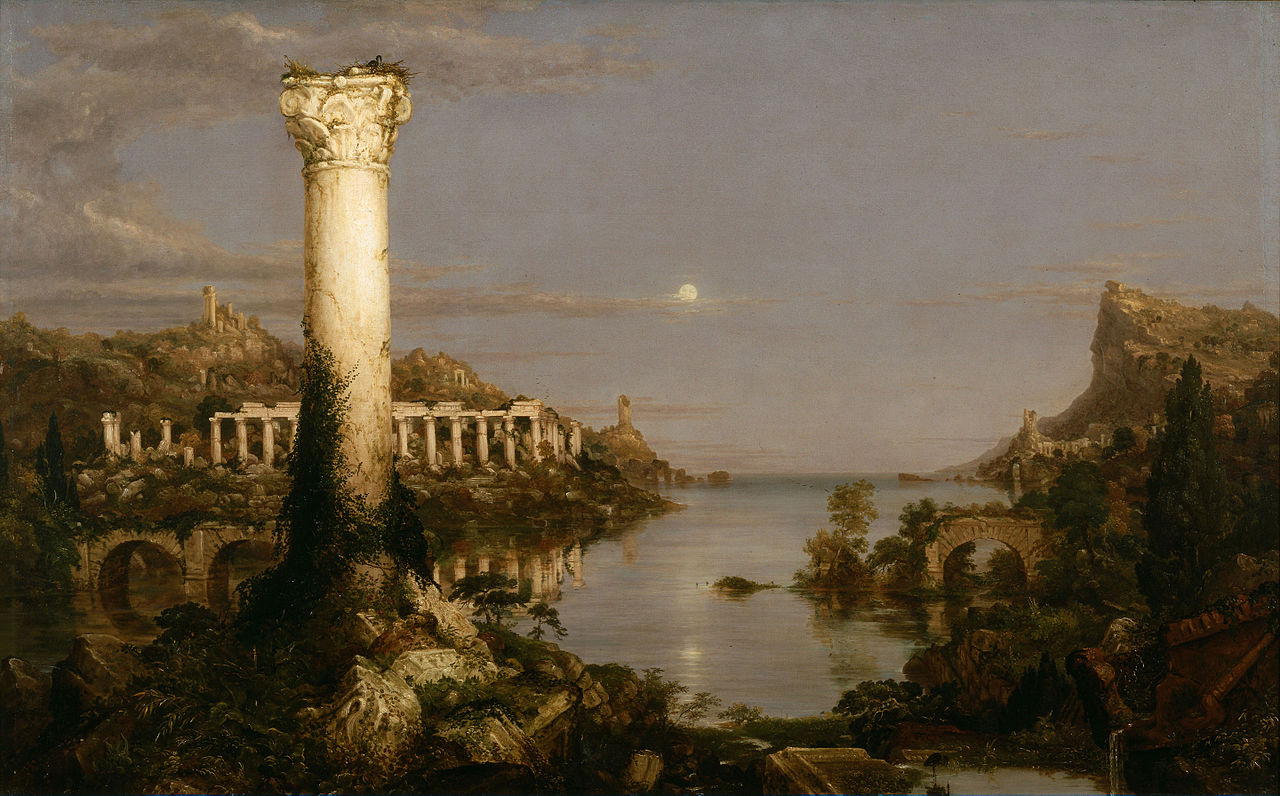 Cole 1836 The_Course_of_Empire5 Desolation New-York Historical Society 161 x 100 cm