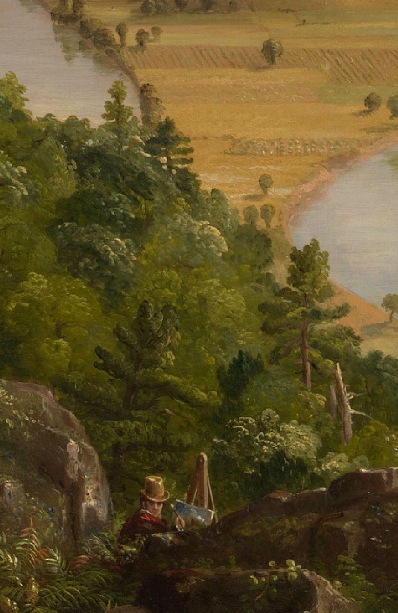Cole 1836 Vue du mont Holyoke a Northampton, Massachusetts, apres l'orage — The Oxbow MET autoportrait