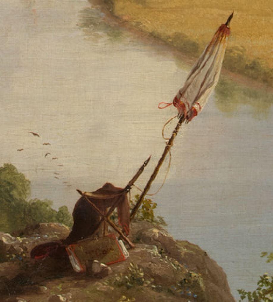 Cole 1836 Vue du mont Holyoke a Northampton, Massachusetts, apres l'orage — The Oxbow MET detail