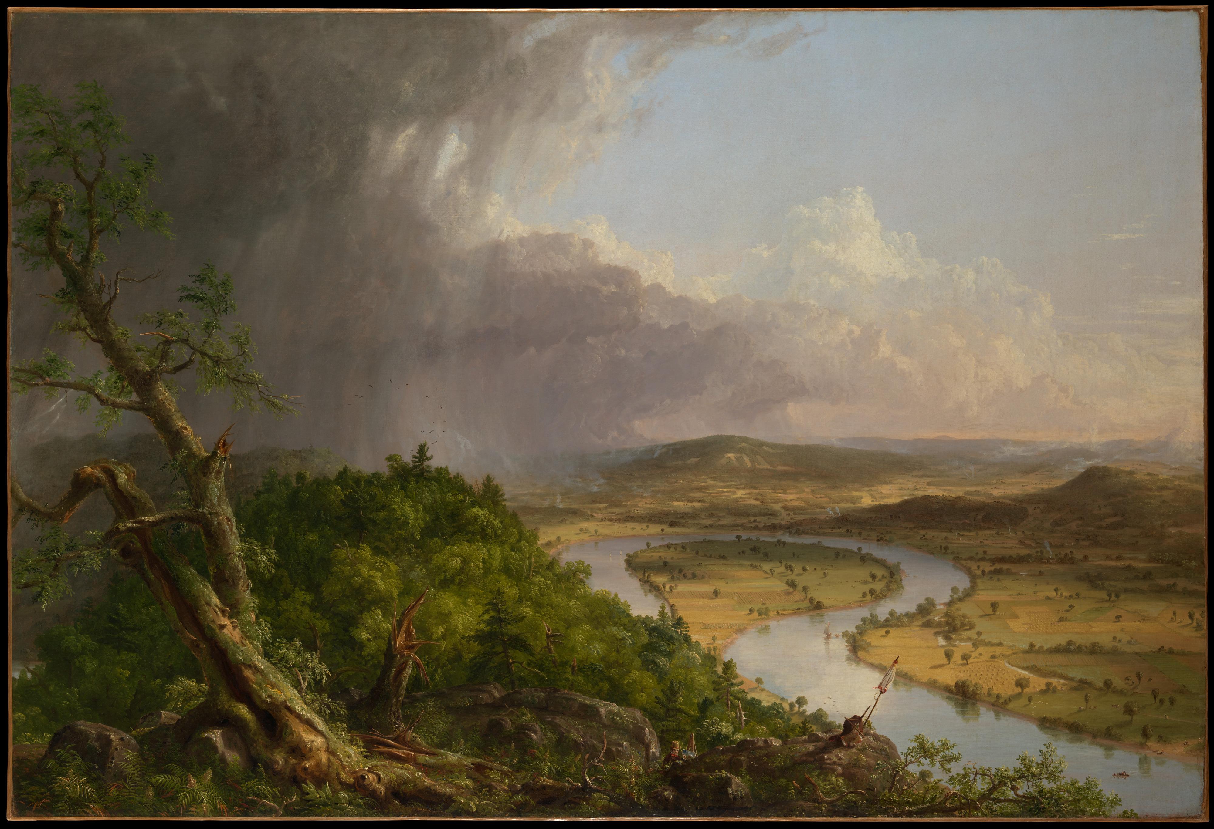 Cole 1836 Vue du mont Holyoke a Northampton, Massachusetts, apres l'orage — The Oxbow MET