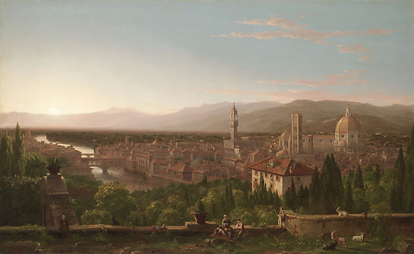 Cole 1837 View of Florence from San Miniato MET 99.1 x 160cm
