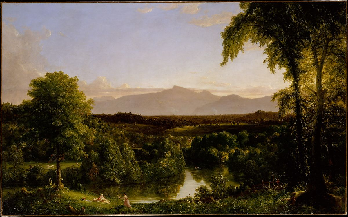 Cole 1837 View on the Catskill—Early Autumn MET 99.1 x 160cm