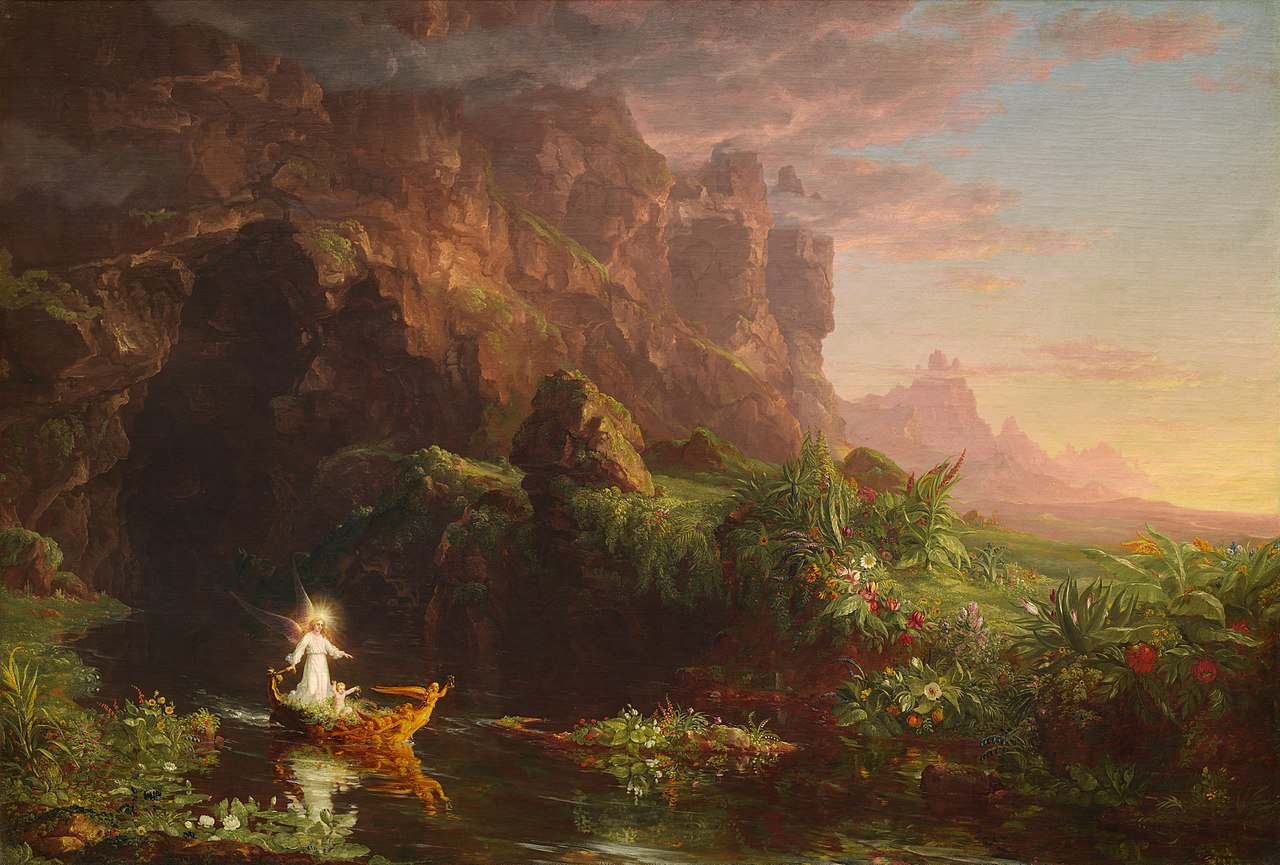 Cole 1842 The_Voyage_of_Life 1 Childhood,(National_Gallery_of_Art)