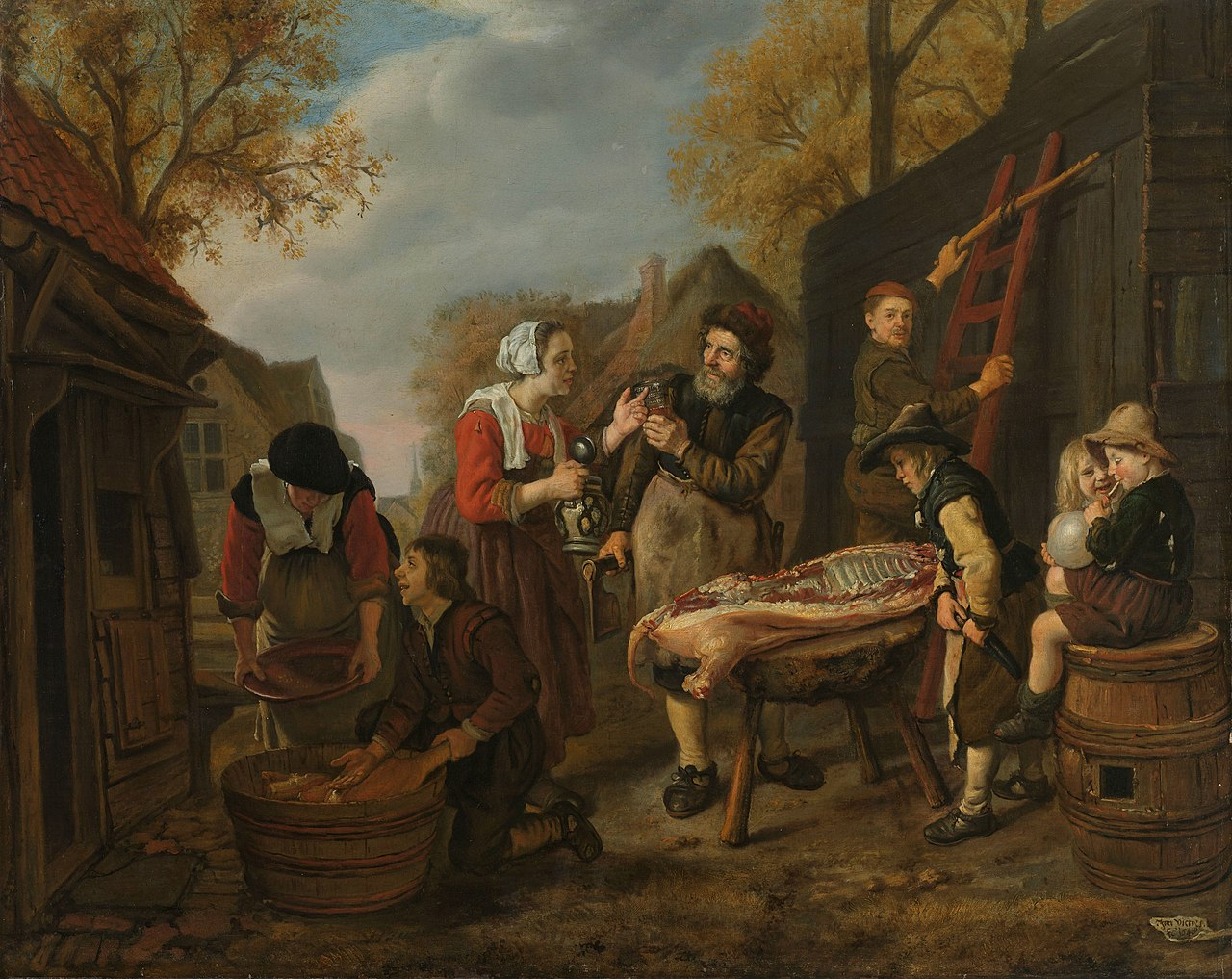 Jan Victors 1654 Le boucher (De varkensslachter) Rijksmuseum