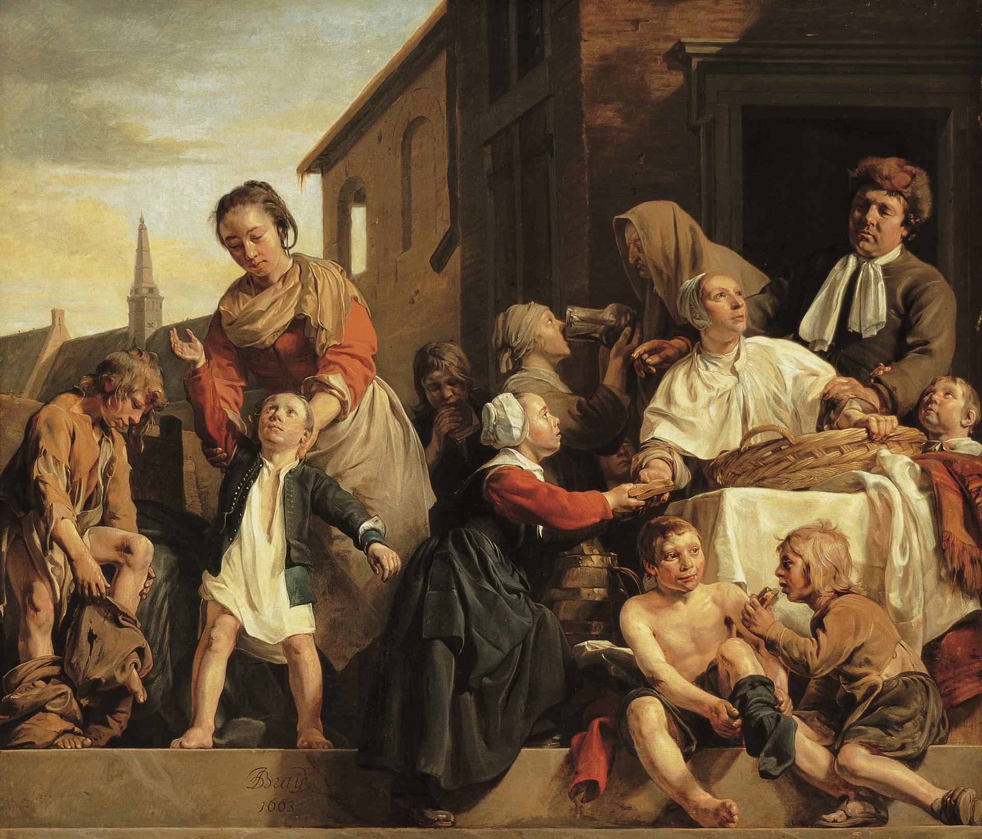 an-de-bray-1663-Lhabillage-et-le-repas-des-orphelins-Frans-Hals-Museum-Haarlem-