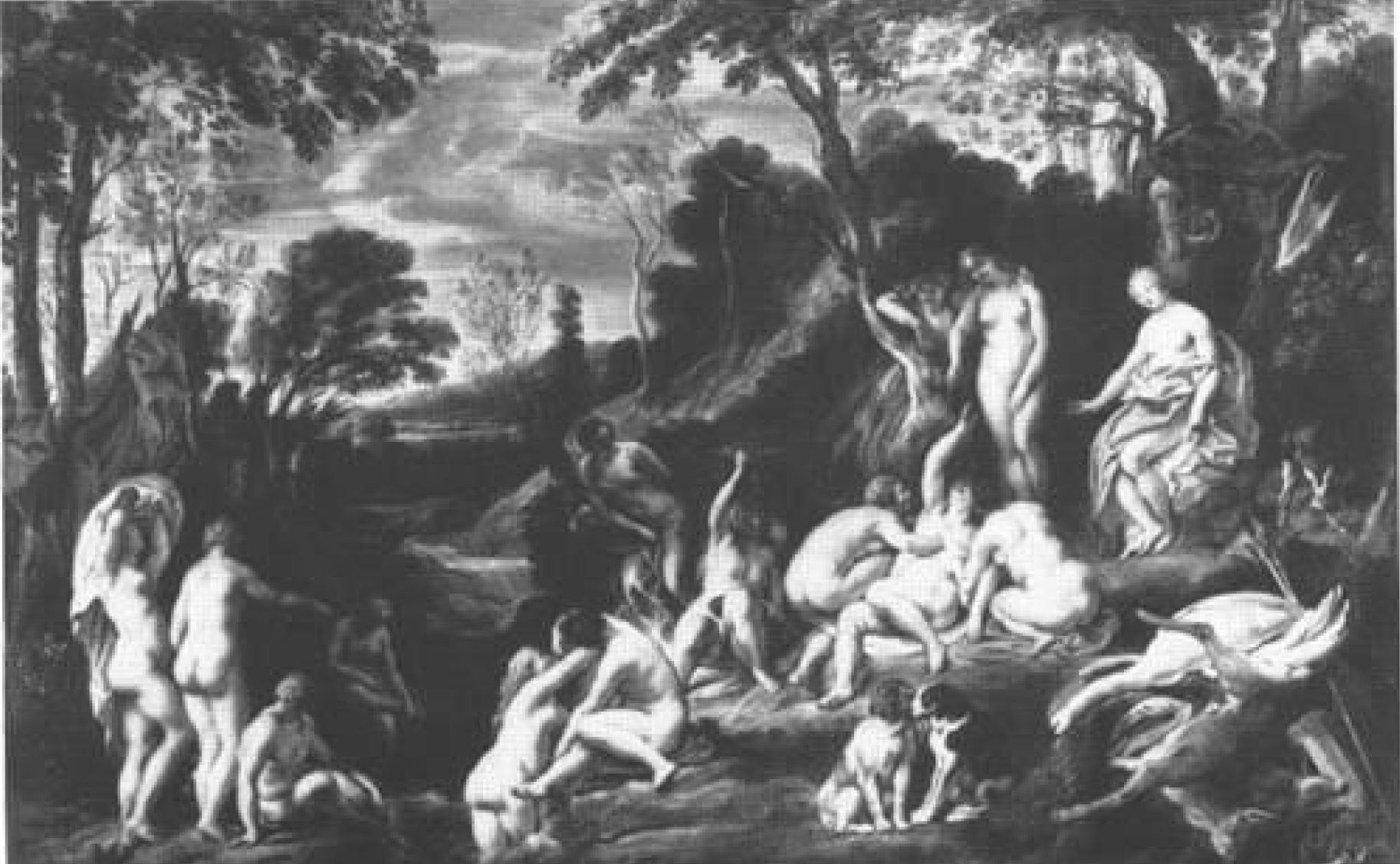 Jordaens 1640 ca Diane et Calisto coll priv 81 x 119,6 cm