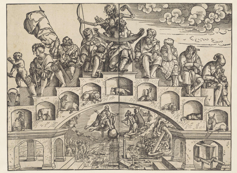 Jorg Breu (der Jungere), Escalier de la vie 1540 ca Rijhsmuseum