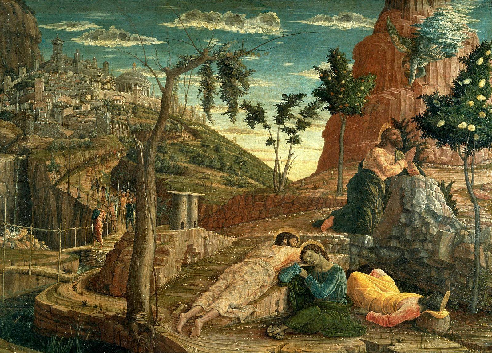 Mantegna 1459 Le Jerdin des Oliviers Musee des BA Tours