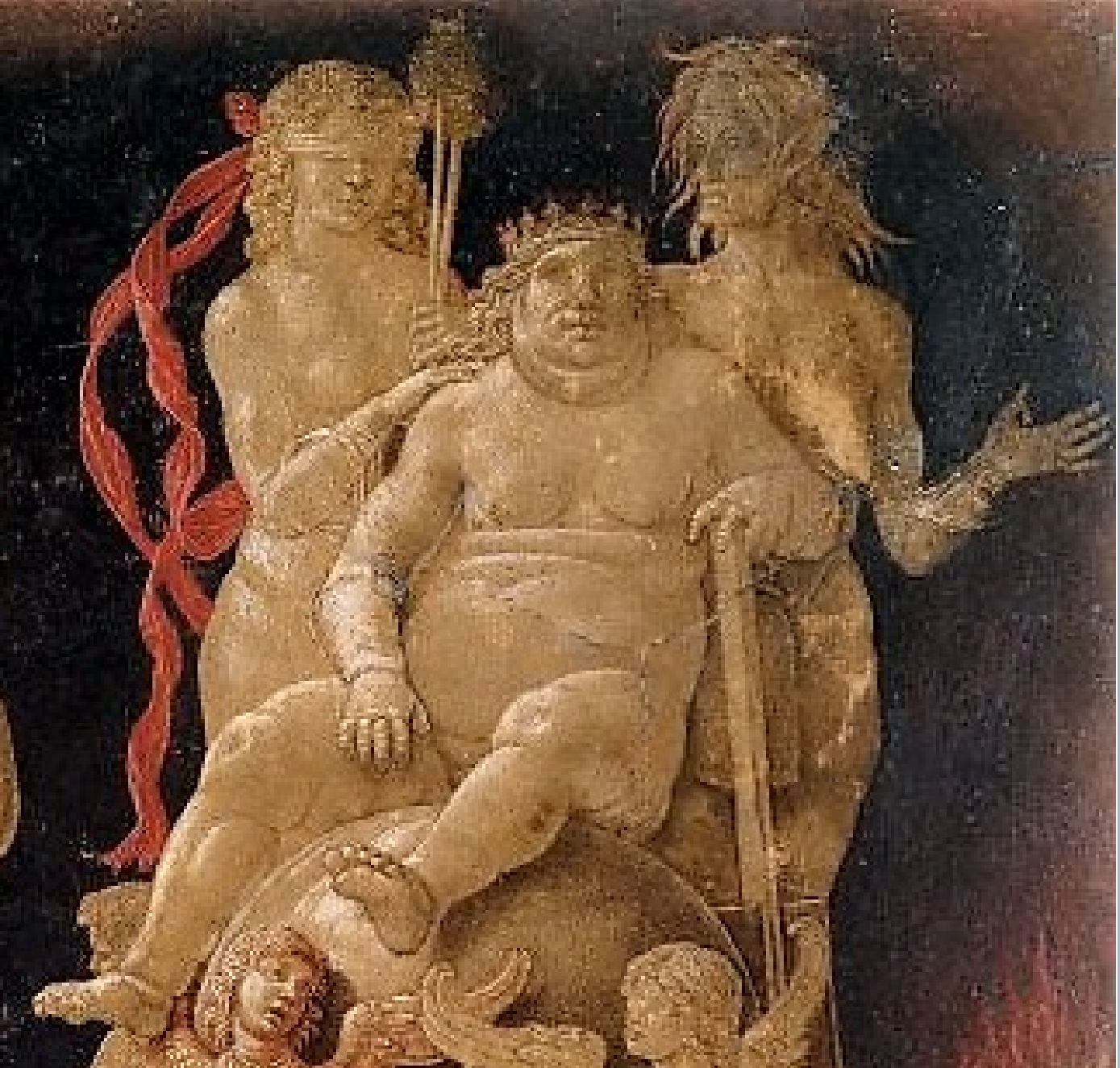 Mantegna Allegory of the Fall of Ignorant Humanity Virtus Combusta British Museum detail